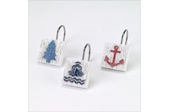 Avanti Linens 13077GMUL Lake Words Shower Hooks, Medium, Multicolor