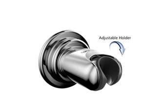 (Adjustable Holder) - Bopai Vacuum Suction Cup with Swivel Adjustable Shower Head Holder ;Removable Handheld Showerhead & Bidet Sprayer Adhesive Wall Mount Bracket,Chrome
