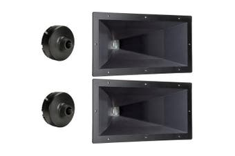 2 Goldwood Sound GT-800PB ABS Directivity Horns and 2 GT-1188 Tweeter Drivers Replacements for KSN1188A