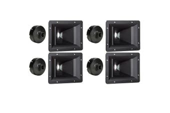 4 Goldwood Sound GT-300PB ABS Directivity Horns and 4 GT-1188 Tweeter Drivers Replacements for KSN1188A