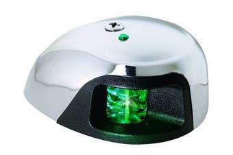 (Green) - Attwood - Led 2-Mile Deck Mount Navigation Bow Light, Stainless Steel (Starboard/Green Lens)