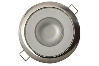 (White dimming, Red dimming) - Lumitec Mirage SS Polished Bezel Exterior and Interior Flush Mount LED Down Light