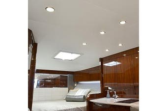 (Polished Housing, Spectrum RGBW) - Lumitec LED Exterior or Interior Down Light, Flush Mount, High Output, Slim Profile