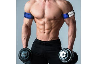 (Arms) - Occlusion Training Bands by BFR Bands, RIGID EDITION, Blood Flow Restriction Bands Give Lean & Fast Muscle Growth without Lifting Heavy Weights - Strong Adjustable Strap + Comfort Liner