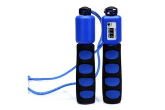 (Blue) - Anser Rope skipping 390 Adjustable Jump Rope with Counter and Comfortable Handles