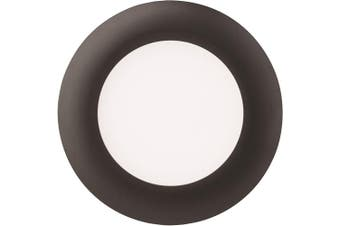 (3000K, 7.6cm , Black) - Lithonia Lighting 8W Ultra Thin 7.6cm Dimmable Recessed Ceiling Light, 3000K, Black