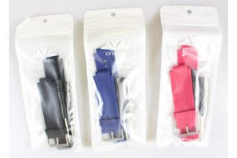 (3Pcs,Black&Rose&Blue) - Band for Garmin Vivoactive, Soft Silicone Wristband Replacement Watch Band for Garmin Vivoactive Sports GPS Smart Watch