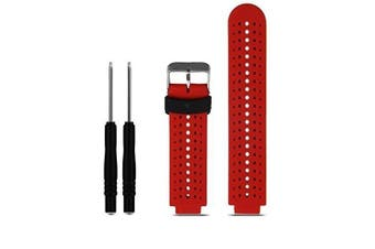 (01 Red & Black) - ZSZCXD Soft Silicone Replacement Watch Band for Garmin Forerunner 230/235/220/620/630/735 Smart Watch