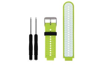 (03 Lime & White) - ZSZCXD Soft Silicone Replacement Watch Band for Garmin Forerunner 230/235/220/620/630/735 Smart Watch