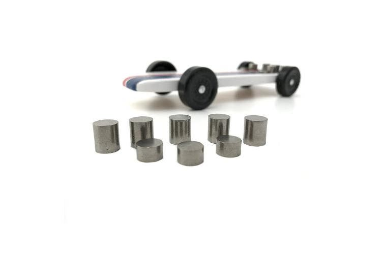 100ml - Tungsten Pinewood Derby Car Weight Kit - BONUS Build Plans Show Optimum Car Design and Weight Placement, Bring Your Car to the 150ml Limit and Gain the Winning Edge