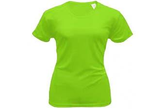 (Small, Lime) - Bradley Loose Fitting Short Sleeve Rash Guard Swim Shirt with UV Protection