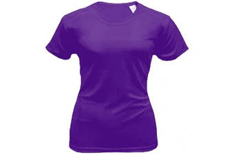 (X-Large, Purple) - Bradley Loose Fitting Short Sleeve Rash Guard Swim Shirt with UV Protection