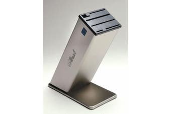 Dexter Stainless Steel Knife Block - 30cm H