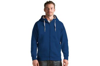 (Medium) - Antigua Mens Victory Full Zip Hoodie Sweatshirt (Colour: Royal)