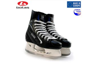 (Adult 11) - Botas - Yukon 381 - Men's Ice Hockey Skates | Made in Europe (Czech Republic) | Colour: Black with Silver
