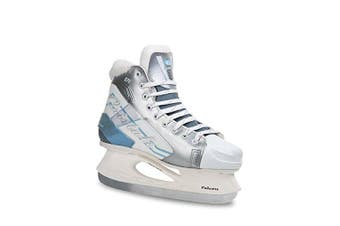 (Adult 8, White with Silver) - Botas - CRISTALO 171 - Women's Ice Skates | Made in Europe (Czech Republic) | Colour: Black or White