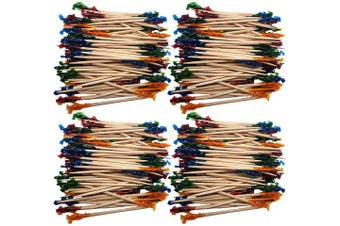 (Wood Frilled Picks) - Set of 480 Wood Frilled Toothpicks! The Ultimate Party Picks - Quality Plastic,Wood,and Frilled Toothpicks! Perfect for Parties, Catering, Events, Sandwiches, Appetisers, Cocktails and More!