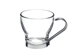 (220ml) - Bormioli Rocco Oslo Cappuccino Cup 220ml with metal handle, hard glass, 6 Cups