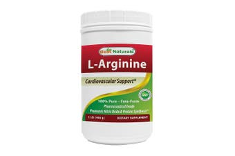 Best Naturals L-Arginine Powder 0.5kg - Pure Pharmaceutical Grade Free Form - Best Amino Acid Arginine Supplements for Women & Man - Promotes Circulation and Supports Cardiovascular Health