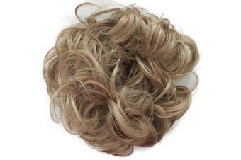 (Strawberry blond mix # 27/613 G13A) - PRETTYSHOP Scrunchy Scrunchie Bun Up Do Hair Piece Hair Ribbon Ponytail Extensions Wavy Messy Strawberry blond mix # 27/613 G13A