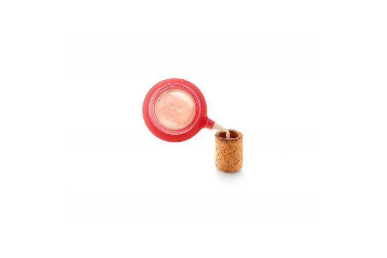 Lekue Baking Cookie Shot Glass Kit + Decomax (Set of 6), Red