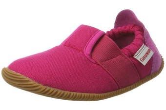 (2 UK, Pink (365 / Purpur)) - Giesswein Girls' Söll-Slim Fit Low-Top Slippers