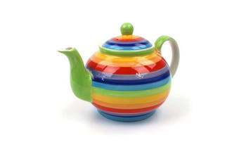 Rainbow Teapot   Large Rainbow Teapot   Ceramic Rainbow teapot 4 cup