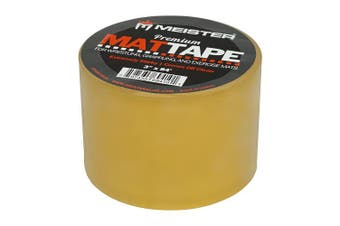 (10cm  Wide x 26m, 1 Roll) - Meister Premium Mat Tape for Wrestling, Grappling and Exercise Mats - Clear