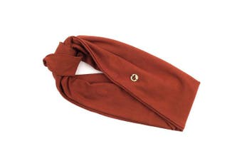 (Rust) - BLOM Original Multi-Style Headband. Perfect for Yoga or Fashion, Workout or Travel. Happy Head Guarantee. Super Comfortable. Designer Style & Quality.