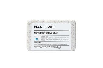 (210ml) - MARLOWE. No. 102 Men's Body Scrub Soap 210ml | Best Exfoliating Bar for Men | Made with Natural Ingredients | Amazing Sandalwood & Agarwood Scent