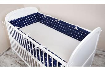 (360x30cm) - Cot bumper with Nest Head Guard Bumper 420x30 cm 360X30 CM 180x30 cm Cot Bumper Blue Star Cot Bumper Bed