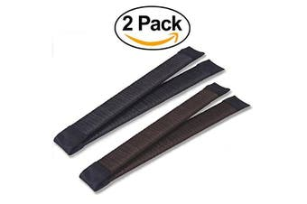 Women's Hair Bun Maker French Twist Hair Fold Wrap Snap by Andlane (1 Black, 1 Brown)