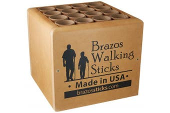 Brazos Walking Sticks Twisted American Hardwood Cane, 90cm , Made in the USA