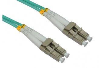 C4A® 0.5m OM3 Fibre Optic Cable / LC to LC / Multi-Mode / Fibre Network Lead