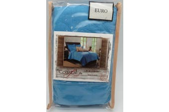 Coastal Life Luxe European Pillow Sham from the Solid Seashell Collection in Blue