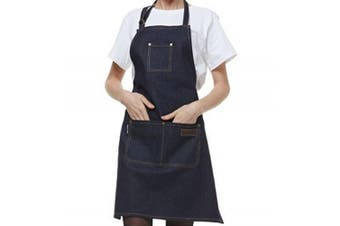 (Blue cowboy) - Denim Apron,ANGTUO Thick Sleeveless Personality Aprons Fashion Uniforms Coffee Service Chef Cooking Gardener,Blue