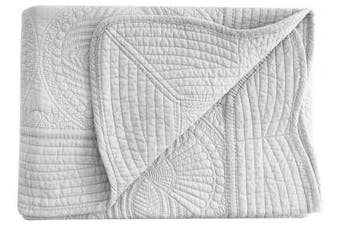 (Grey) - Lightweight All Weather Embossed Detail Cotton Quilt For Babies and Toddlers