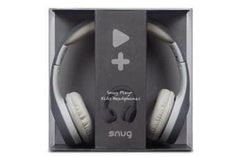 (Gray) - Snug Play+ Kids Headphones Volume Limiting and Audio Sharing Port (Grey)