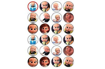 24 Boss Baby boss baby movie Edible Wafer Paper Cup Cake Toppers