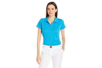 (Large, Surf) - Antigua Women's Pique Xtra-Lite Desert Dry Polo Shirt