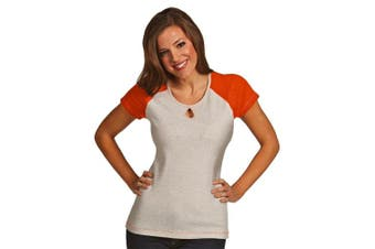 (Large, Mango Heather/Light Grey Heather) - Antigua Women's Crush Shirt