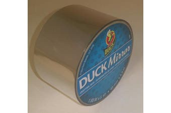 (Silver) - Duck 285276 Mirror Crafting Tape, 4.8cm x 5 Yards, Silver