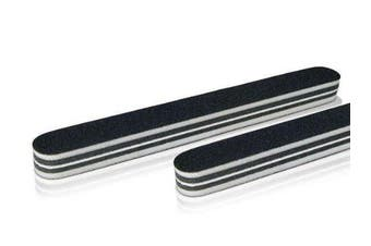 Professional set of 10 Nail Files Straight Extra Thick Black 180/100
