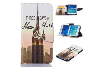 (Galaxy S6 Edge, Tower) - Galaxy S6 Edge Case, Firefish [Kickstand] [Card Slots] PU Leather Wallet Case Magnetic Closure Scratch Resistant Cover Skin for Samsung Galaxy S6 Edge -Tower
