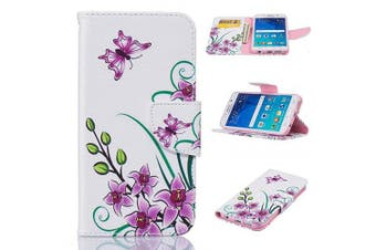 (Galaxy S6 Edge, Pink Butterfly) - Galaxy S6 Edge Case, Firefish Kickstand PU Leather Wallet Case with Card Slots [Scratch-Resistance] Magnetic Closure Slim Bumper Cover for Samsung Galaxy S6 Edge -Pink Butterfly