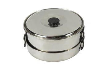 (Silver, n/a) - Regatta Compact Steel Camping Cook Set