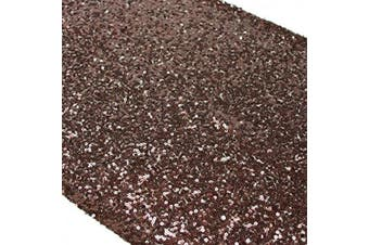 (10, Brown) - TRLYC Mothers' Day 10 Pieces 30cm by 270cm Brown Sequin Table Runner for Wedding