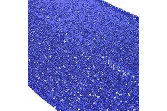 (10, Royal Blue) - TRLYC 10 Pieces 30cm by 270cm Royal Blue Sequin Table Runner for Wedding/Party/Christmas Day