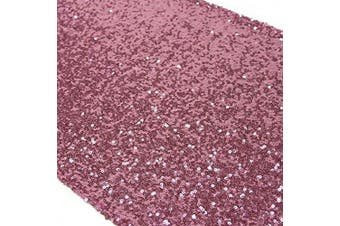 (1, Fushia Pink) - TRLYC 30cm by 270cm Fushia Pink Sequin Table Runner for Wedding/Party/Christmas Day