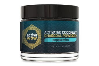 (Peppermint) - Active Wow Teeth Whitening Charcoal Powder Peppermint
